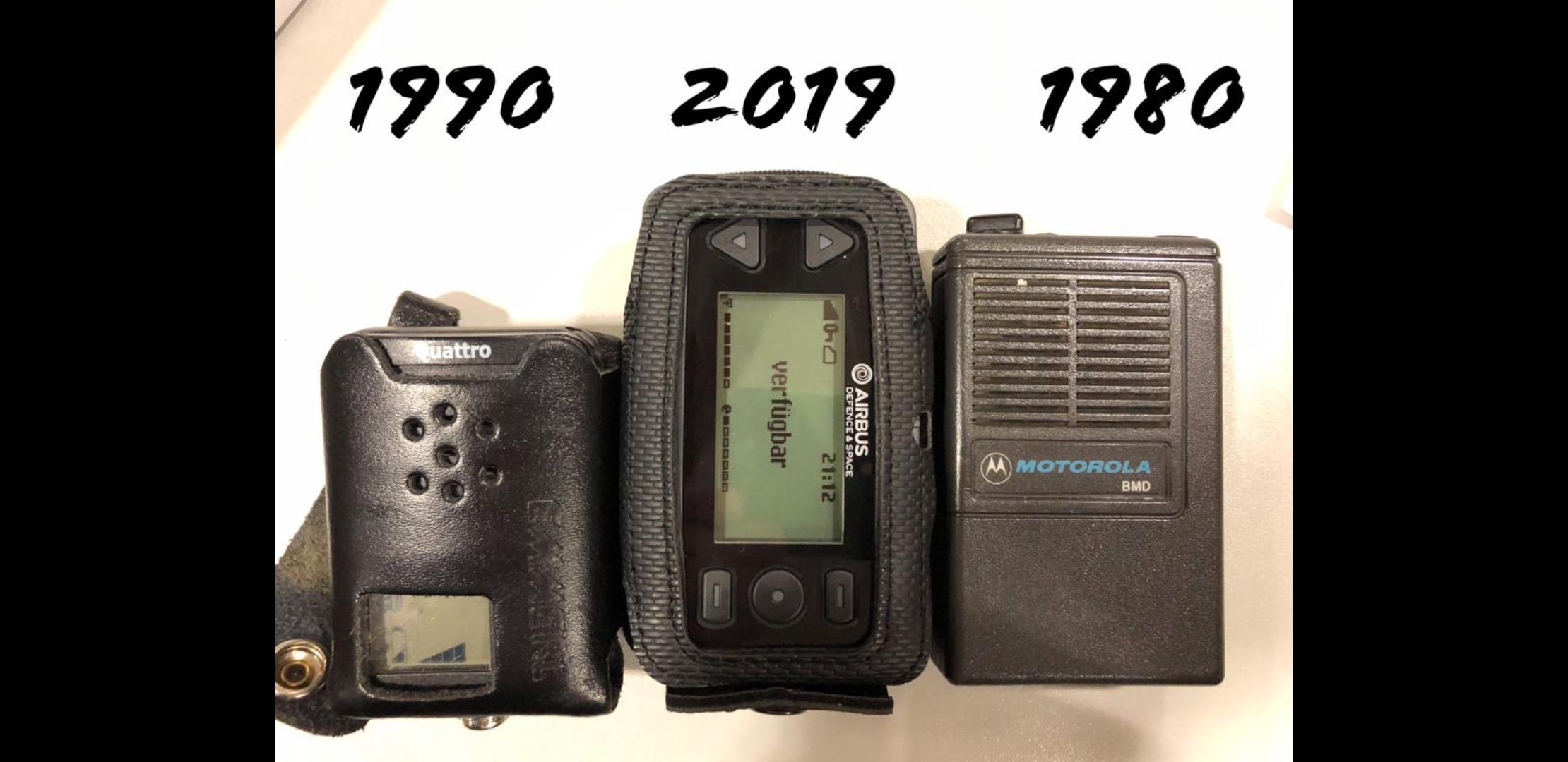 Pager alt und neu im Vergleich
